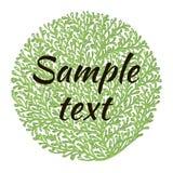 Natural logo. Tree natural logo and green tree ecology illustration symbol icon vector design Stock Photos