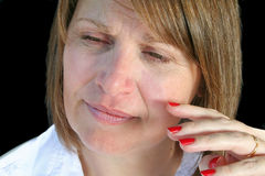 Natural Look Middle Aged Woman Royalty Free Stock Photos