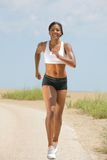 Natural Looking African American Female Runner Royalty Free Stock Image
