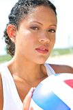 Natural Looking Beach Volleyball Player Royalty Free Stock Photography