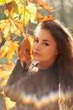 Autumn beauty portrait stock image