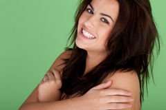 Natural Looking Girl Smiling Stock Photos