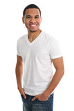Natural Looking Smiling Young African American Stock Images