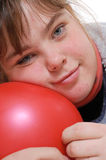 Natural Looking Teenage Girl Stock Photo