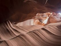 Natural looking of the Upper Antelope Canyon, Route 98. Arizona, AZ, USA: view inside the Upper Antelope Canyon, a Sandstone Slot Canyon with spiral rocks and Stock Images