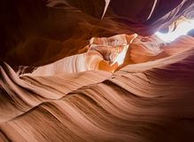Natural looking of the Upper Antelope Canyon, Route 98 Stock Photo