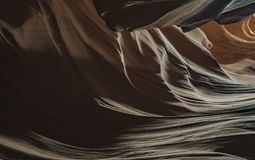Natural looking of the Upper Antelope Canyon, Route 98. Arizona, AZ, USA: view inside the Upper Antelope Canyon, a Sandstone Slot Canyon with spiral rocks and Royalty Free Stock Images