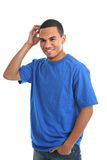 Natural Looking Young African American Male Stock Photography