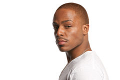 Natural Looking Young African American Male Stock Photo