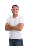 Natural Looking Young African American Male Royalty Free Stock Photo