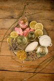 Natural lotions assorment Stock Photography
