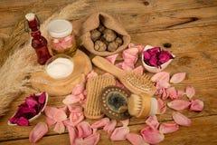 Natural lotions Stock Image