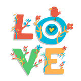 Natural Love with cute bird Royalty Free Stock Images
