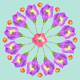 Natural mandala from dried pressed flowers, petals, leaves. Mandala from dried pressed flowers, petals and leaves. Mandala is symbol of meditation, Buddhism