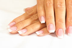 Natural manicure Royalty Free Stock Images