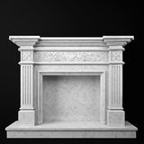 Natural marble fireplace Stock Photography
