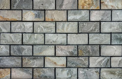 Natural marble stone brick wall for background and texture Royalty Free Stock Photo