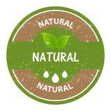 Natural marcado del sello circular Foto de archivo libre de regalías