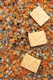 Natural marigold soap Stock Photography