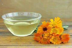 Natural marigold tea Royalty Free Stock Photo