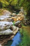 Natural Martvili canyon, Georgia royalty free stock image