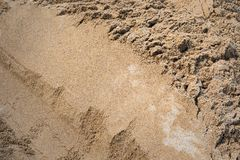 Background Industrial sand for construction works stock photo