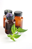 Natural medicine stock image