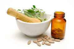 Natural medicine still life Royalty Free Stock Images