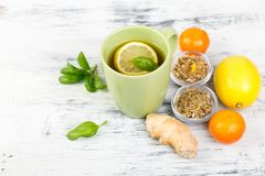 Natural medicine. Treatment for colds. Concept of natural medicine. Natural remedies for colds Stock Photo
