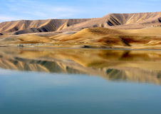 Natural mirror - Azat reservoir Royalty Free Stock Image