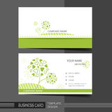 Natural modern business card template Stock Images