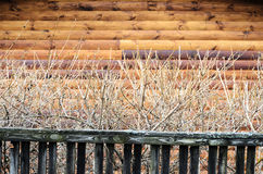 Natural Modern Log Cabin Or Barn Wall Frame Texture. Stock Images