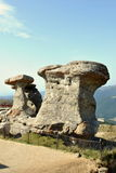 Natural monument-Babele-in Bucegi mountains Stock Photos