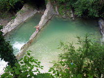 The natural monument - natural swimming pool Dagomys trough Royalty Free Stock Images