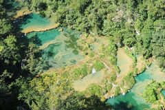 Natural monument park of Semuc Champey at Lanquin Stock Images