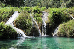 Natural monument park of Semuc Champey at Lanquin Stock Photos