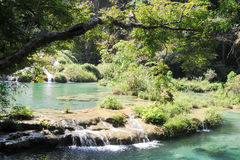 Natural monument park of Semuc Champey at Lanquin Royalty Free Stock Photography