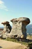 Natural monumento-Babele-en las montañas de Bucegi Fotos de archivo
