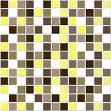 Natural mosaic tiles. Mosaic ceramic tiles in natural warm colours of browns, creams and golds royalty free illustration