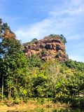 Natural mountain design building lifestyle to live in Myanmar Stock Photography