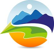 Natural mountain logo Royalty Free Stock Photography