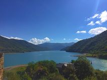 Natural mountain water reservoir. The river is 112 kilometres 70 mi long, and its basin covers an area of 2,724 square kilometres 1,052 sq mi. The ground strata Stock Image