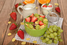 Natural muesli with fruit Royalty Free Stock Photography