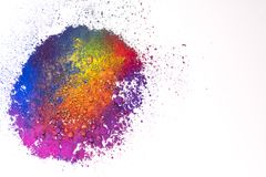 Natural multi colored pigment powder royalty free stock photography