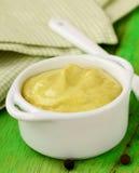 Natural mustard sauce Royalty Free Stock Photos