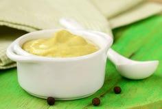 Natural mustard sauce Stock Photos