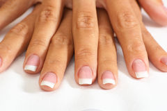 Natural nail Stock Photos