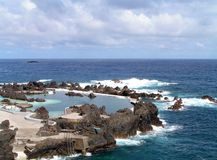 Natural ocean pools. Madeira Stock Photo