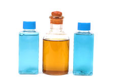 Natural oil and shampoo bottles Stock Image
