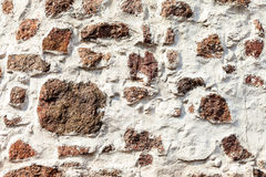 Natural old stone wall as background Stock Photo